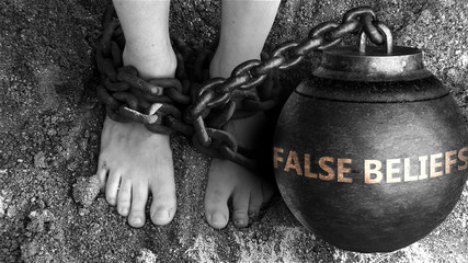 divorce and behavior – feet with ball and chain image